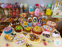 Easter Spring miniatures by Littlest Sweet Shop by LittlestSweetShop