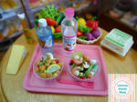 Miniature salads by Littlest Sweet Shop by LittlestSweetShop