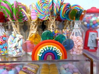 Miniature lollipop with stand by LittlestSweetShop