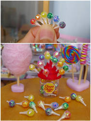 Lollipop with display jar by LittlestSweetShop