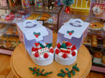 Japanese style Christmas cake and box Miniature by LittlestSweetShop