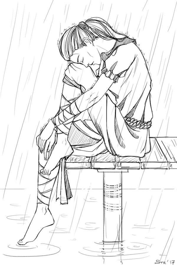under the rain by Strannytsa