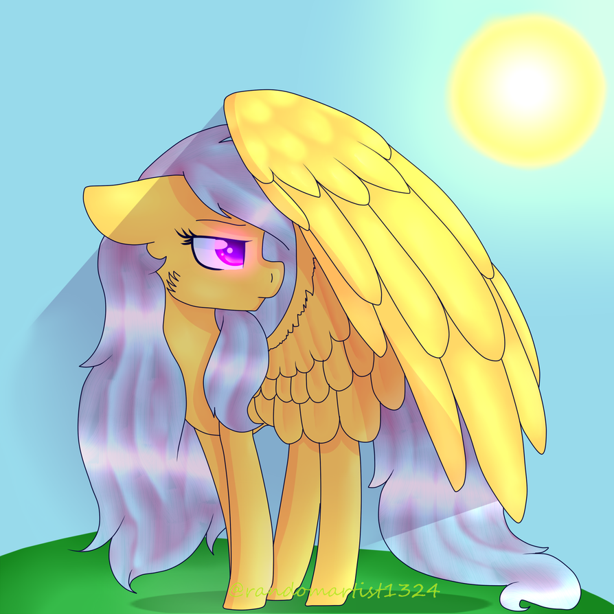 Turn down the Sun, will ya?! (Art Trade) by randomartist1324