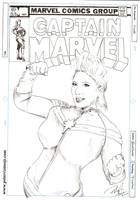 Bellechere as Captain Marvel by greendalek