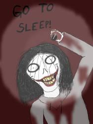 Jeff the killer drawn on iPad by Werewolf98765