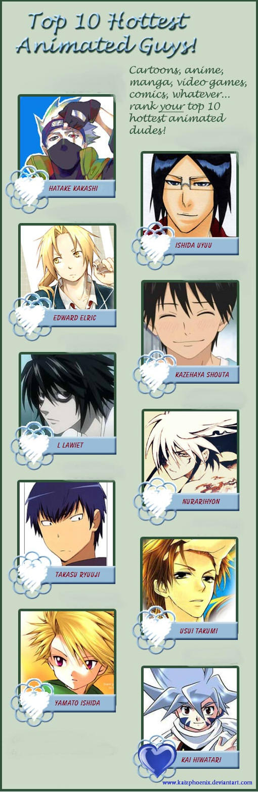 My Top 10 Hottest Anime Guys List!!!!!! By Kaizphoenix On