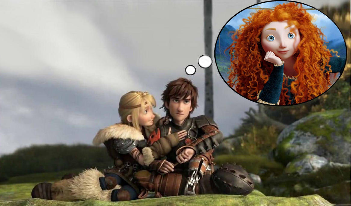 Hiccup Merida Thinking...
