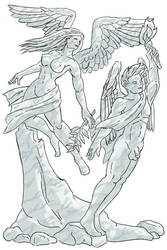 SketchThis - Statue - Wisdom and Peace by CotangentFish