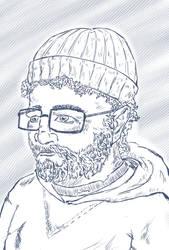 SketchThis - Portrait - Fisherman by CotangentFish