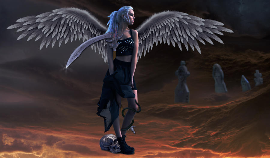 Heartless Angel of Death by cazcastalla