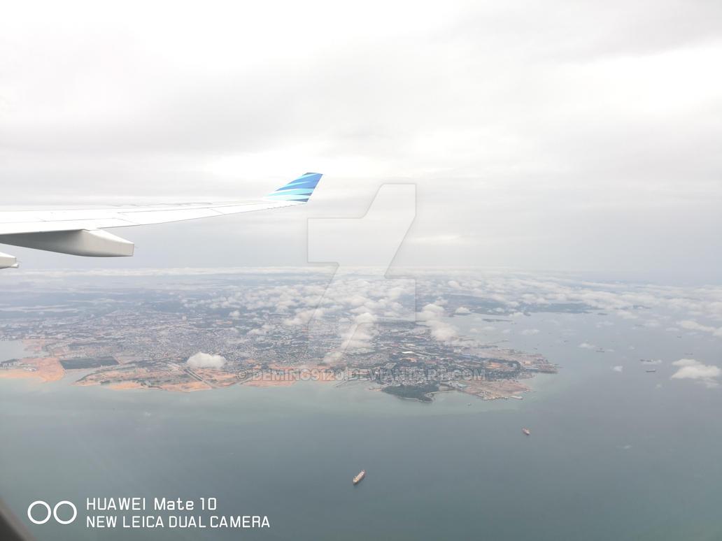 Climbing in an Airbus A330-200 of Garuda by Deming9120