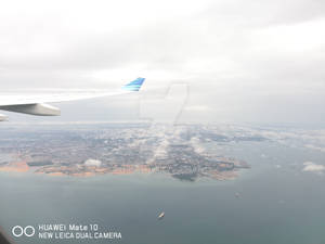 Climbing in an Airbus A330-200 of Garuda