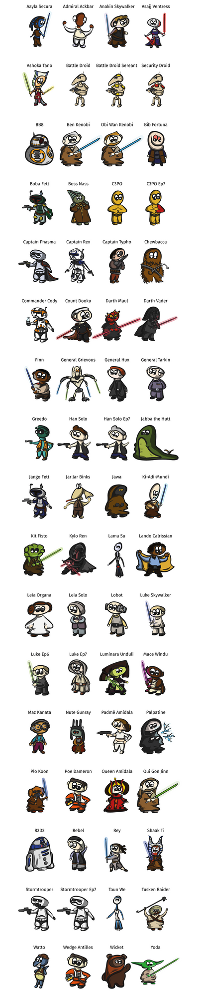 Star Wars / Character Collection by JosephSinger