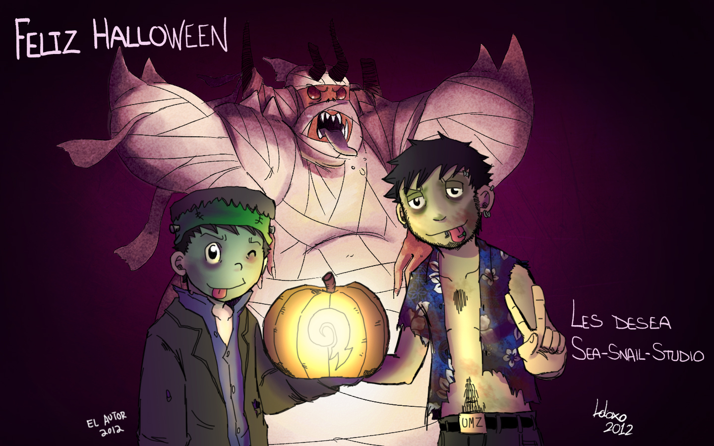 Feliz Halloween! by Sea-Snail-Studio