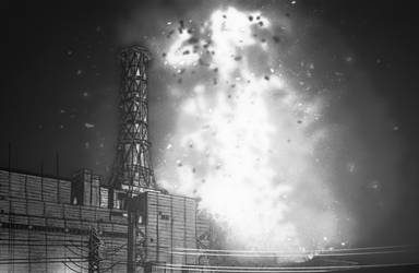 Chernobyl reactor core explosion 01:23:45