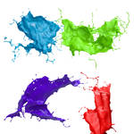 3D paint splashes