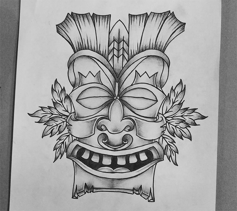Tiki tattoo design by genotas on DeviantArt