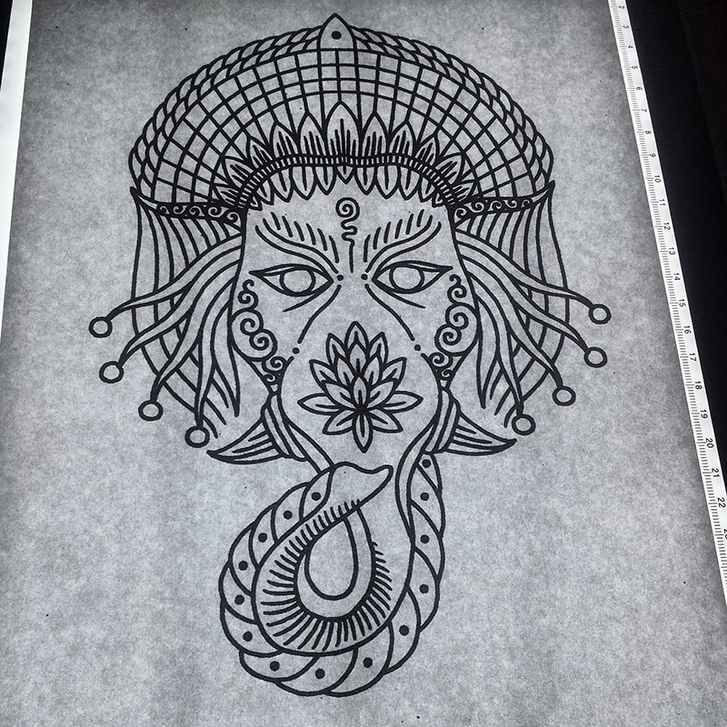 ganesh tattoo design by genotas on deviantart. Black Bedroom Furniture Sets. Home Design Ideas