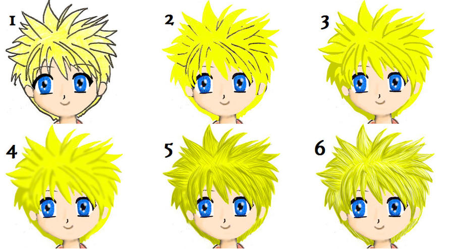 How I draw hair on photoshop by NoNameNeededFanFic