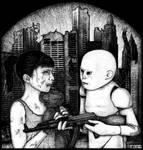 Child robots attack