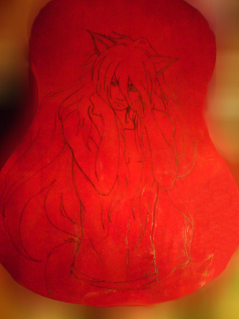 Kurama on guitar-in progress by Riakel