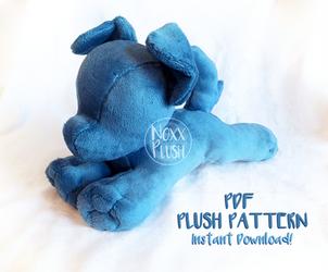 Small Dog/ Quadruped PDF Plush Pattern by NoxxPlush