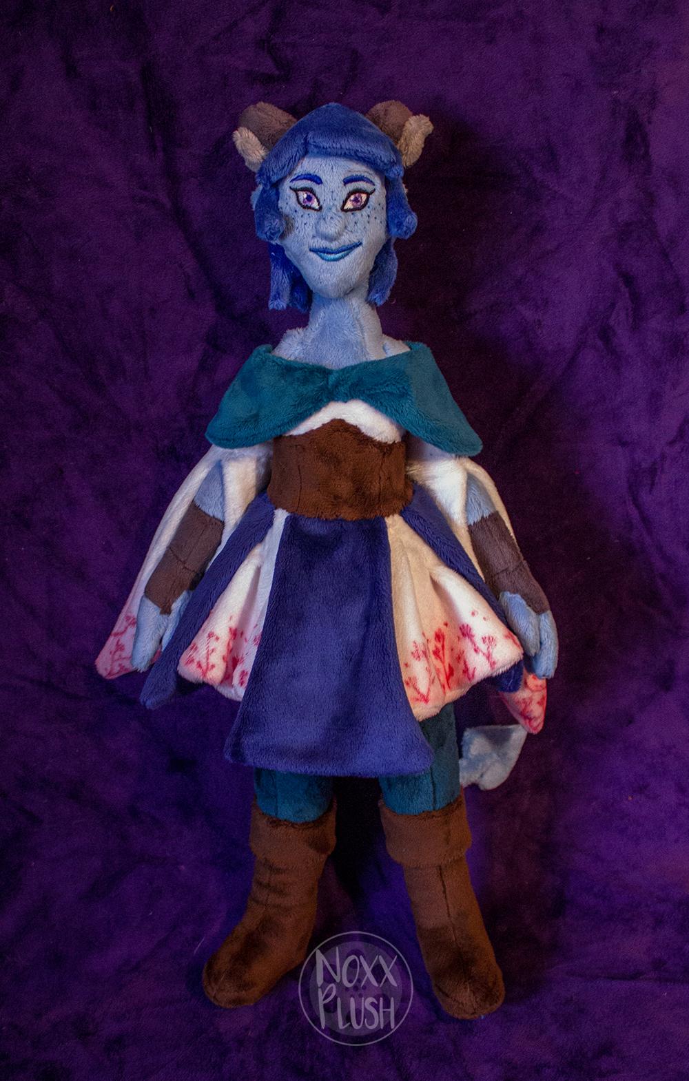 Little Blue Tiefling By Noxxplush On Deviantart