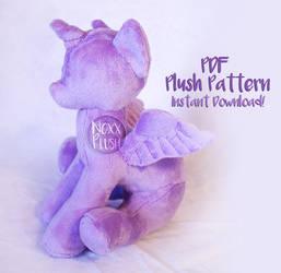 Sitting Pony PDF Plush Pattern by NoxxPlush
