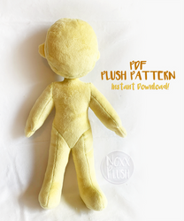 PDF Human Plush Pattern (Now with Embroidery)