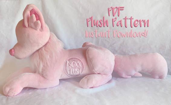 Laying Wolf Plush Pattern