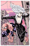 Spider-Man and Black Cat by Phliz