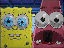Spongebob and Patrick by Hani-Filth