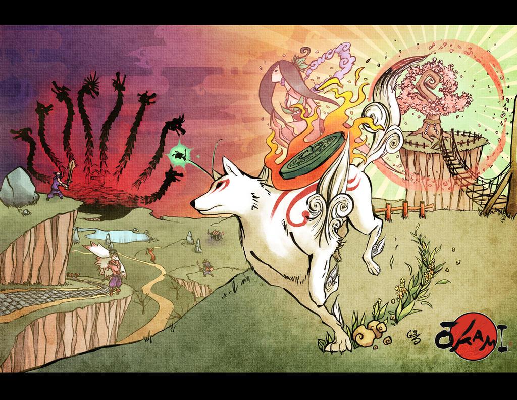 Okami - Destined Heroes by SaiyaGina