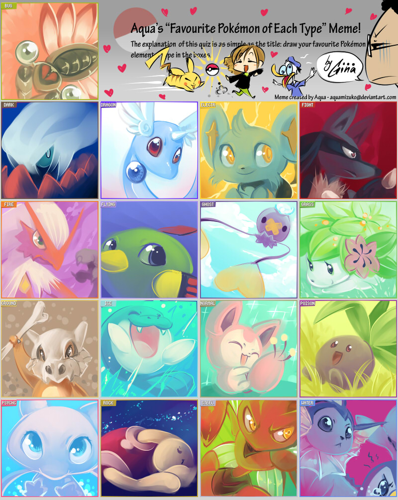 Pokemon Type Meme by SaiyaGina