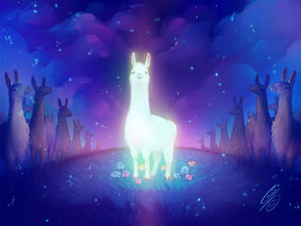 Mystical Llama by SaiyaGina