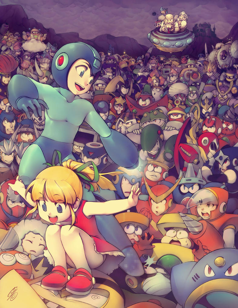 Megaman Tribute by SaiyaGina