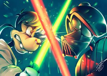 Goof Dumbwalker VS Derph Vader by SaiyaGina
