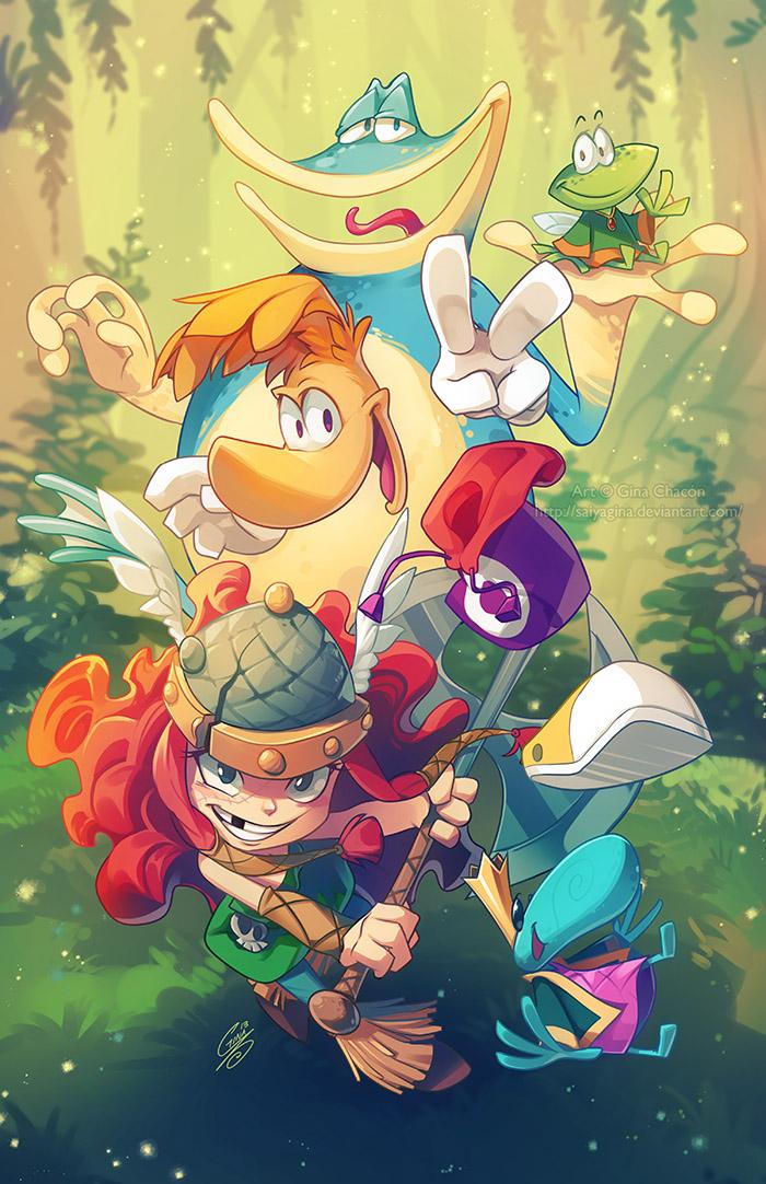 Rayman Legends by SaiyaGina