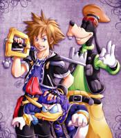 Kingdom Hearts II Fanart by SaiyaGina