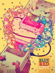 Blue Red LOVE by SaiyaGina