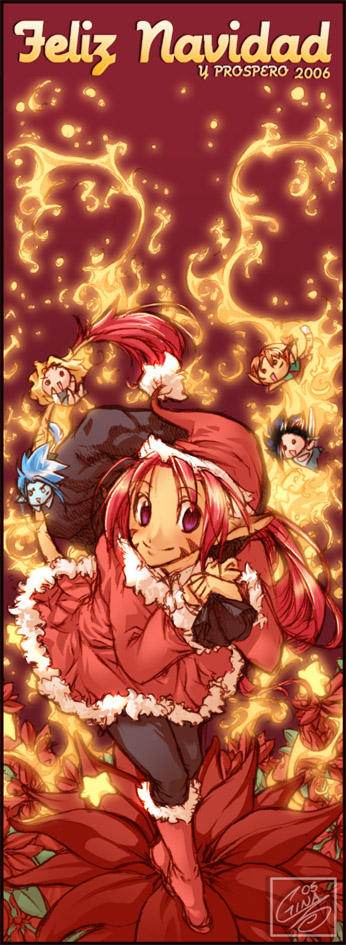 Feliz Roja Navidad by SaiyaGina