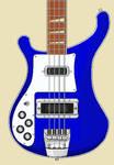 Rickenbacker 4001c64 1974 Left-handed in Azureglo