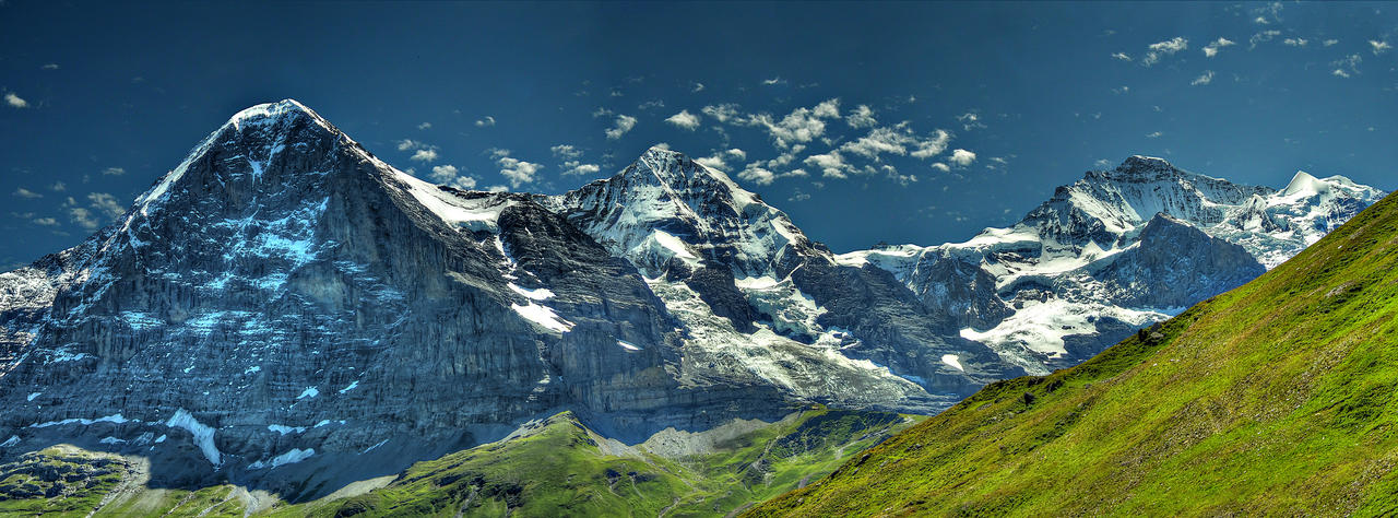 Eiger, Monch and Jungfrau by scribblyscribble
