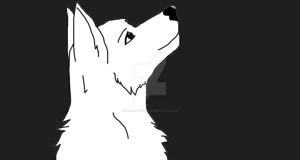 Wolf Lineart : Wolf lineart by doublekawiicloud on deviantart