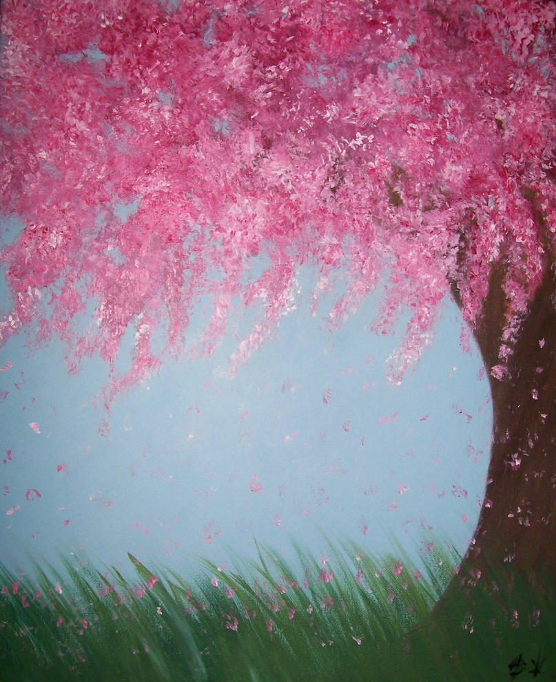 Cherry Blossom Tree by ZoeyElen