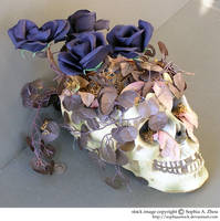 stock 810: Halloween skull 2 by sophiaastock