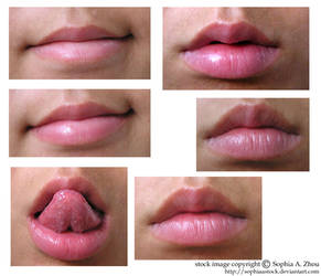 stock 27 : a bunch of lips by sophiaastock