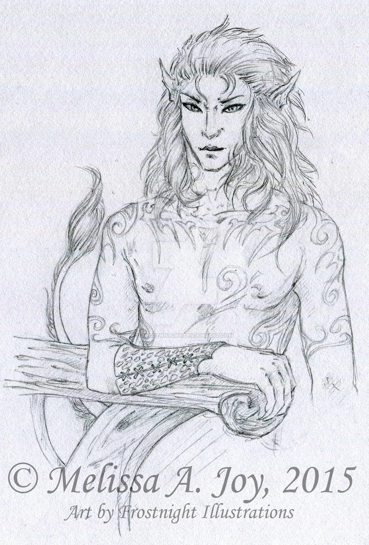 Dhentaro (Concept - Line Art) by AeldynnLore