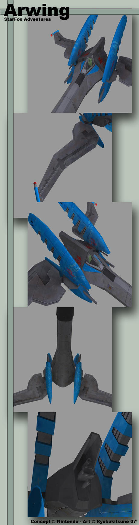 Arwing Textured by RyokuKitsune