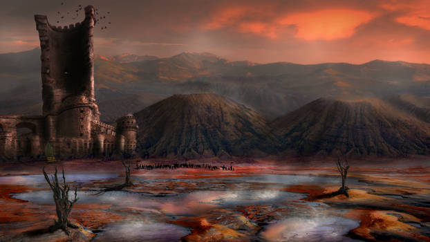 Castle in the volcanic valley